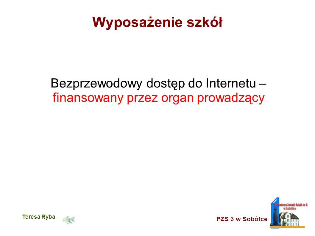 PZS 3 w Sobótce Teresa Ryba Wyposażenie szkół Bezprzewodowy dostęp do Internetu – finansowany przez organ prowadzący