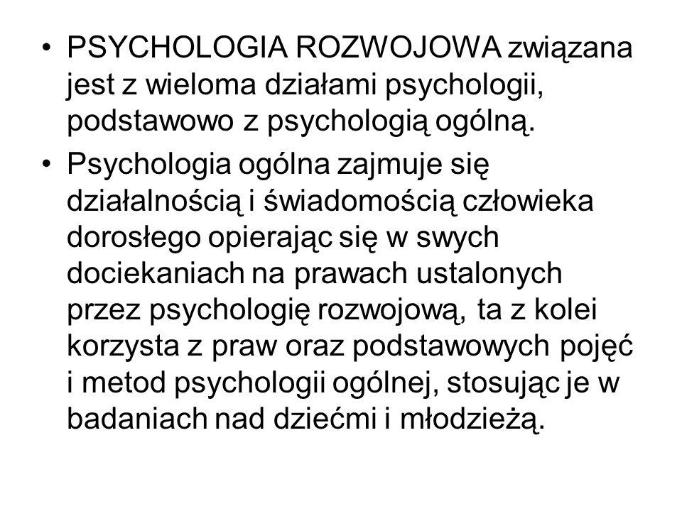 PSYCHOLOGIA ROZWOJOWA jest nauką młodą.
