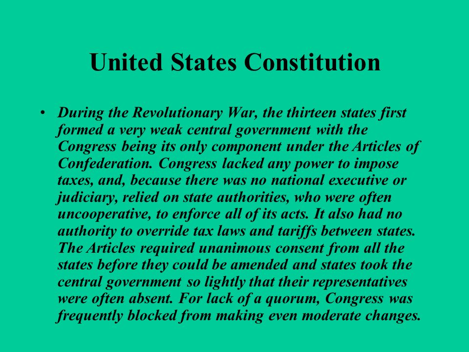 United States Constitution In September 1786, commissioners from five states met in the Annapolis Convention to discuss adjustments to the Articles of Confederation that would improve commerce.
