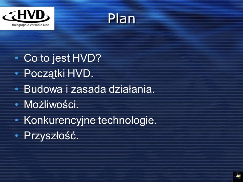 Plan Co to jest HVD.Początki HVD. Budowa i zasada działania.