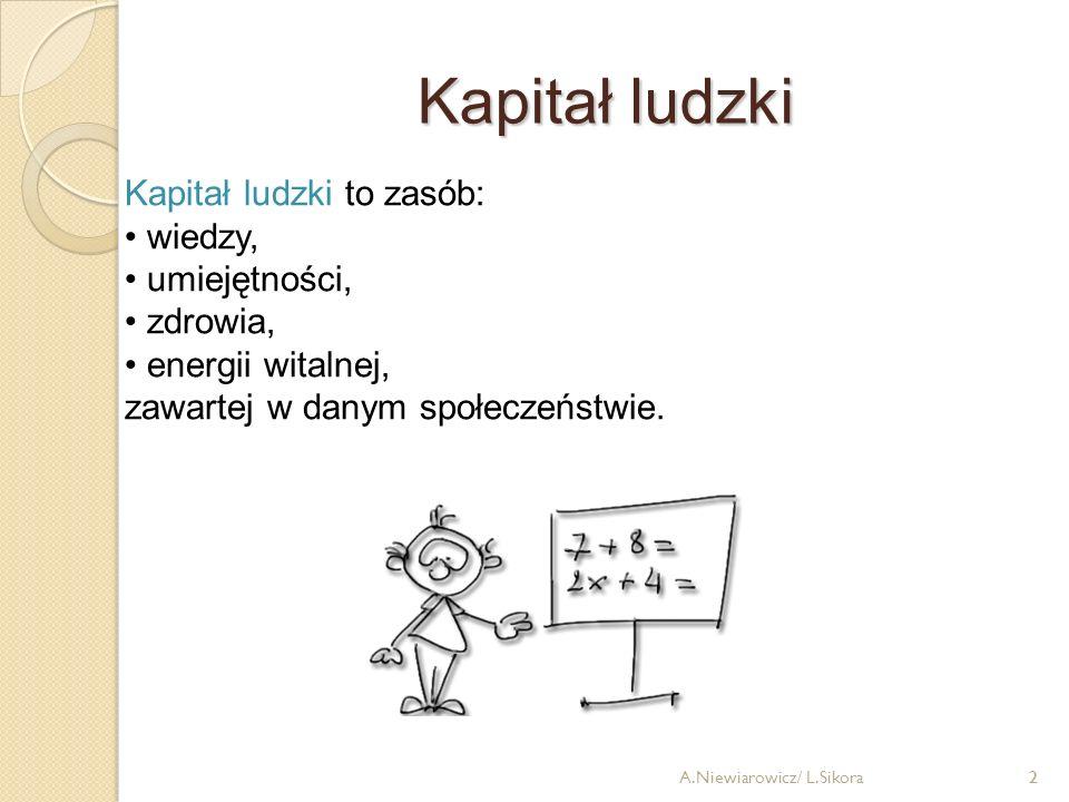 13 Wyższe wykształcenie A.Niewiarowicz/ L.Sikora
