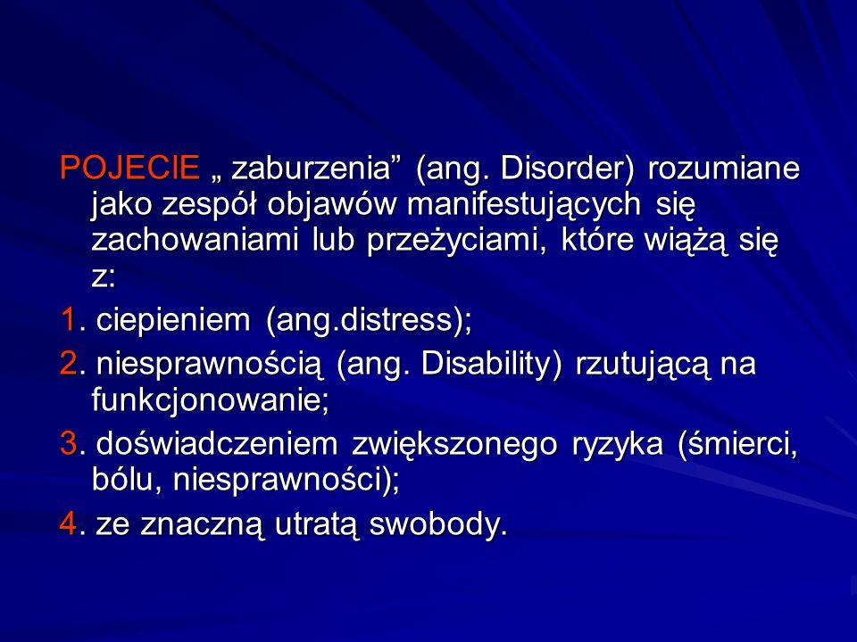 POJECIE zaburzenia (ang.