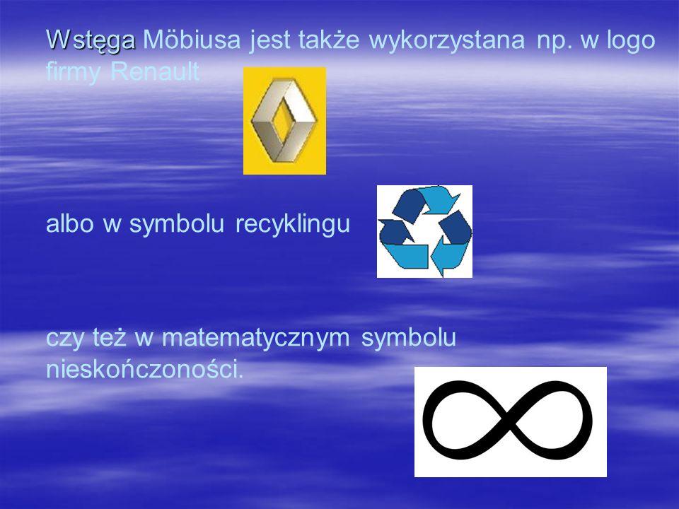 Wstęga Wstęga Möbiusa jest także wykorzystana np.