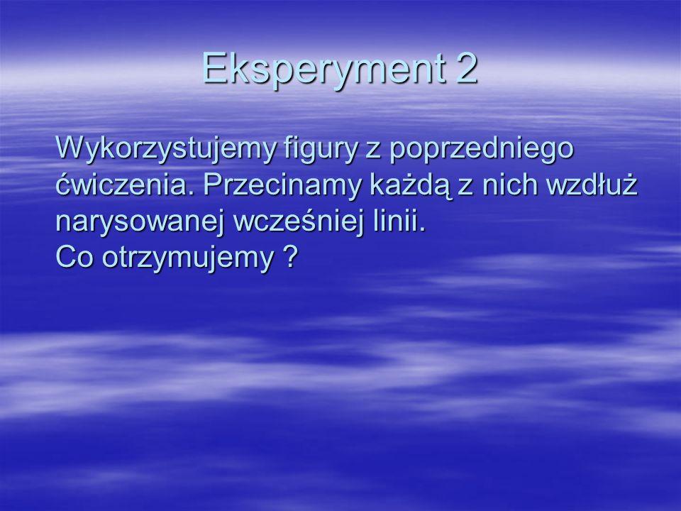 Eksperyment 2 Wykorzystujemy figury z poprzedniego ćwiczenia.