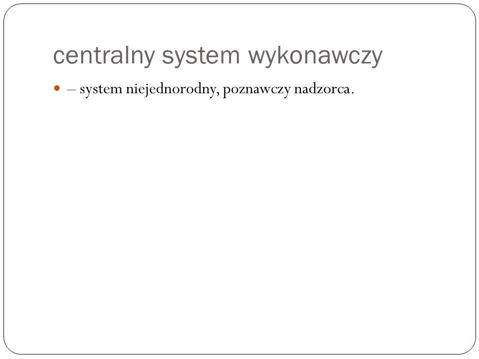 centralny system wykonawczy – system niejednorodny, poznawczy nadzorca.