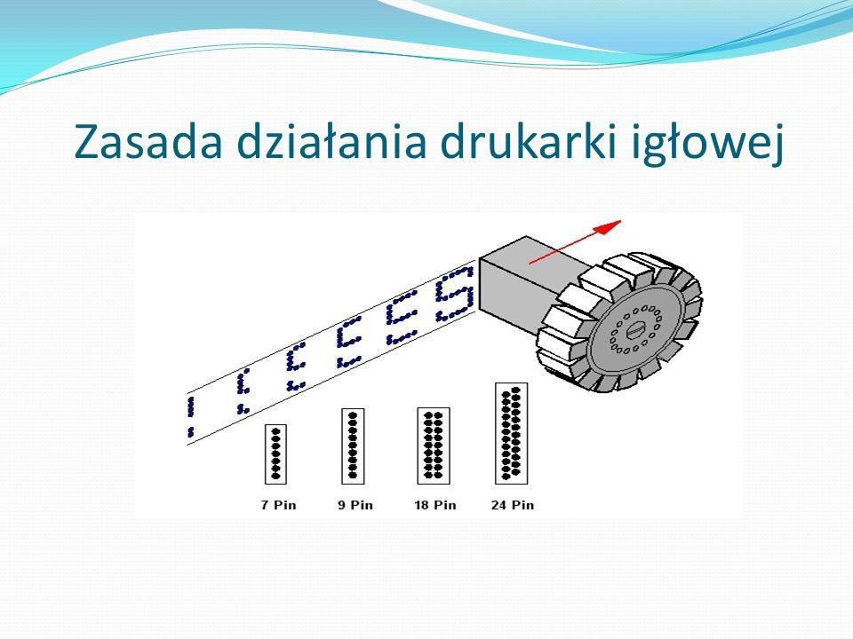 Zasada działania drukarki igłowej