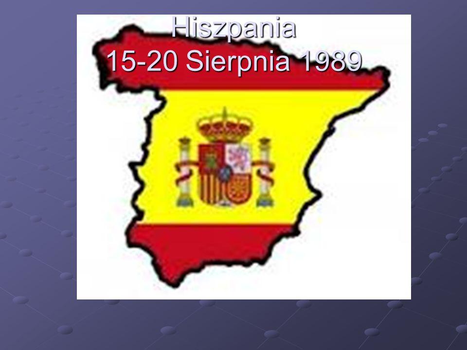 Hiszpania 15-20 Sierpnia 1989