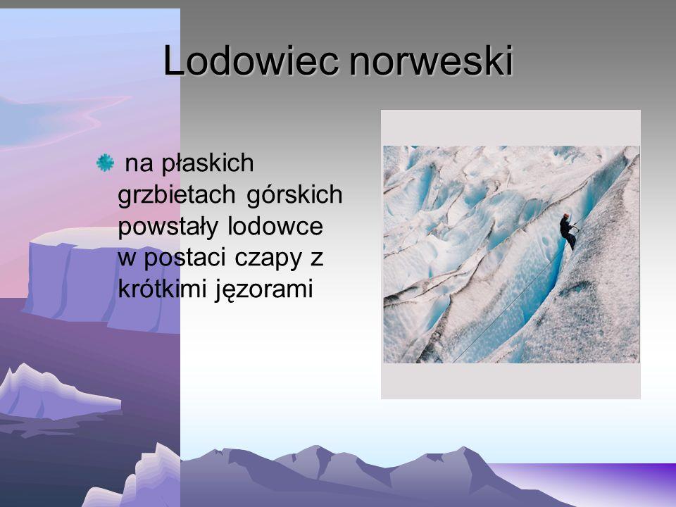 Lodowiec cyrkowy (karowy) posiada jedynie pole firnowe, ponieważ dostawa śniegu równa się jego topnieniu jęzor lodowcowy nie występuje lub jest ledwie