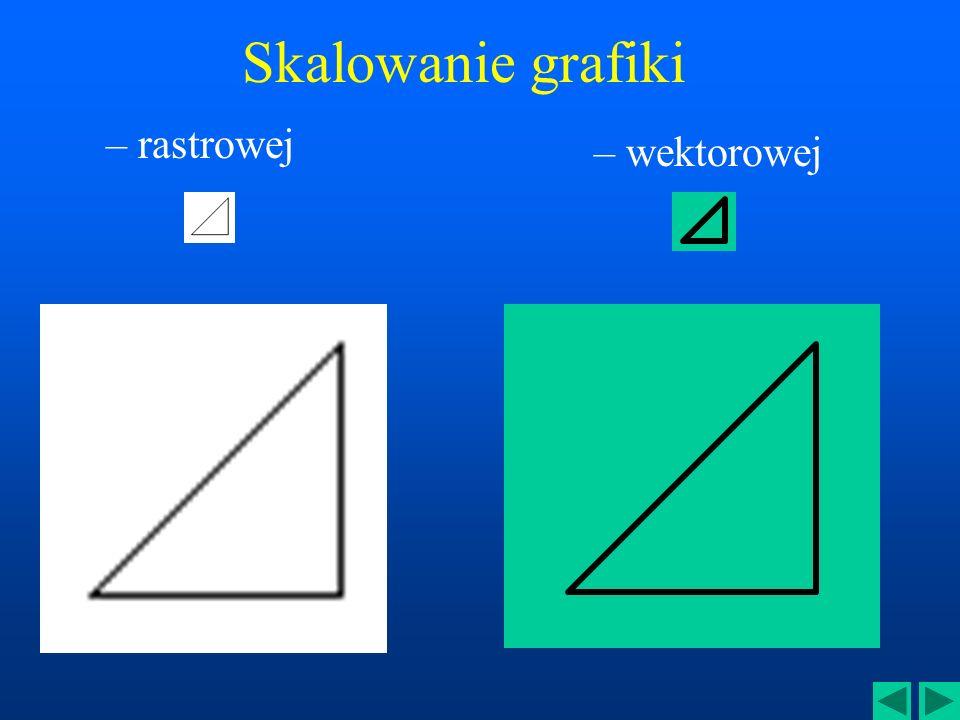 Cechy grafiki wektorowej Doskonale nadaje się do reprezentacji obrazów zawierających elementy strukturalne Umożliwia dokonywanie płynnych transformacj