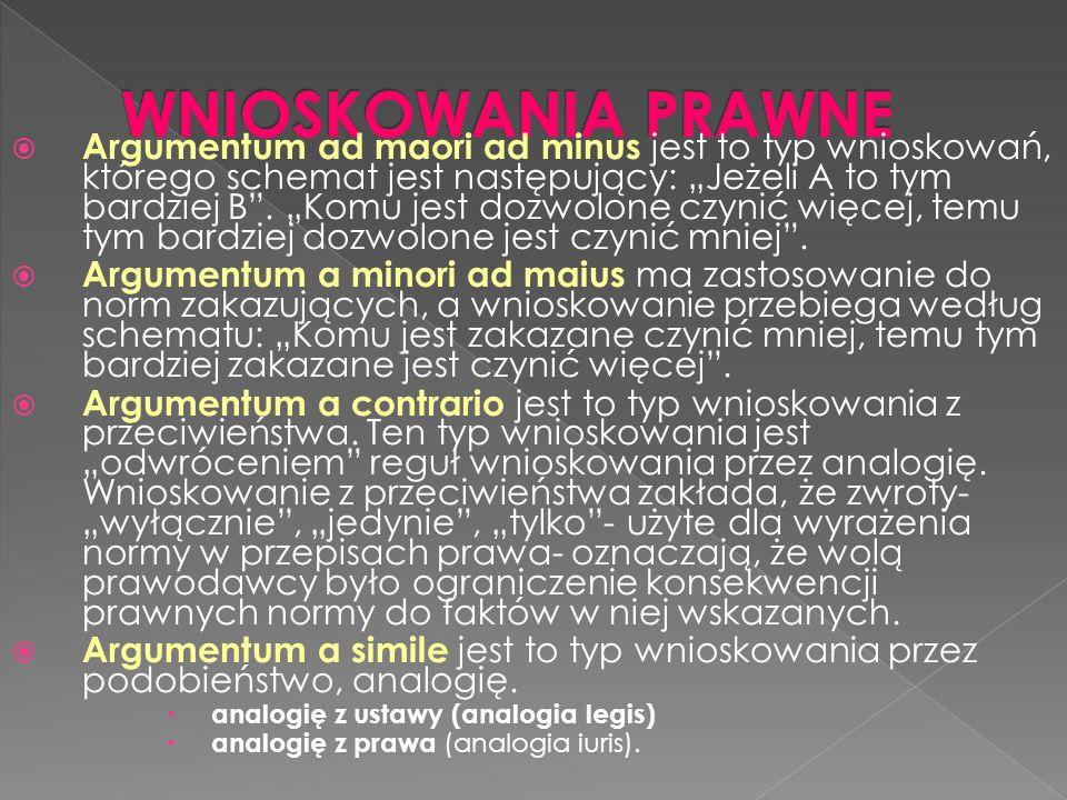 Argumentum ad maori ad minus jest to typ wnioskowań, którego schemat jest następujący: Jeżeli A to tym bardziej B.