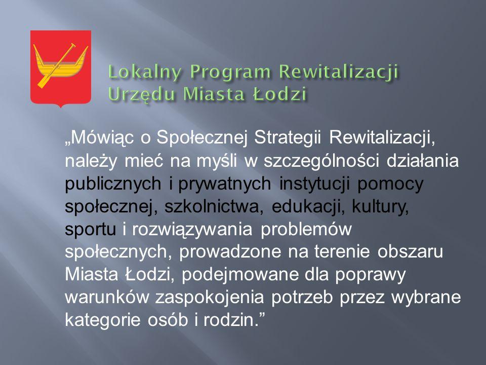 Mówiąc o Społecznej Strategii Rewitalizacji, należy mieć na myśli w szczególności działania publicznych i prywatnych instytucji pomocy społecznej, szk