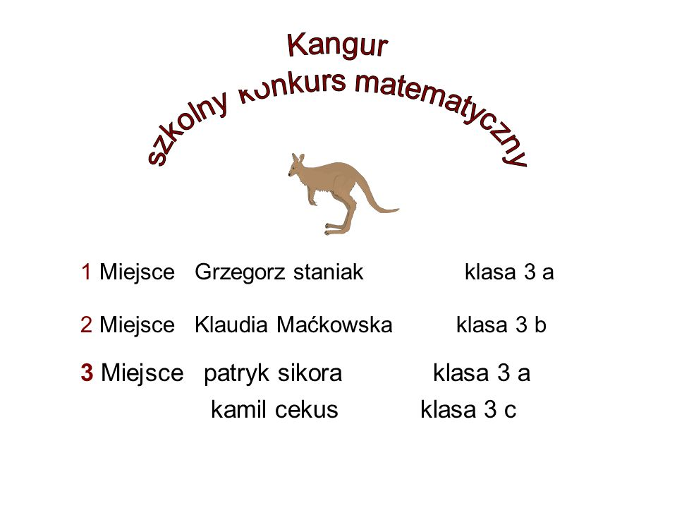 Wielki Turniej Gier i Zabaw KLASY II Karolina Miziur kl 2 a Aleksandra Kalus kl.