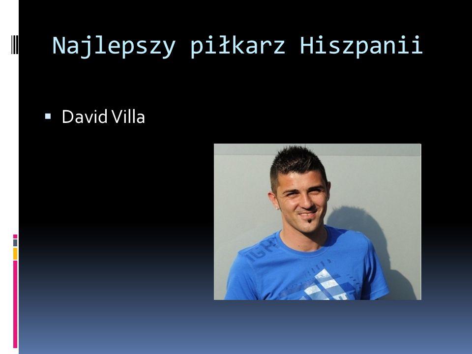 Najlepszy piłkarz Hiszpanii David Villa