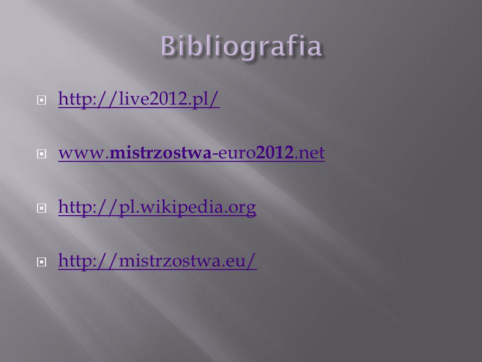 http://live2012.pl/ www. mistrzostwa -euro 2012.net www. mistrzostwa -euro 2012.net http://pl.wikipedia.org http://mistrzostwa.eu/