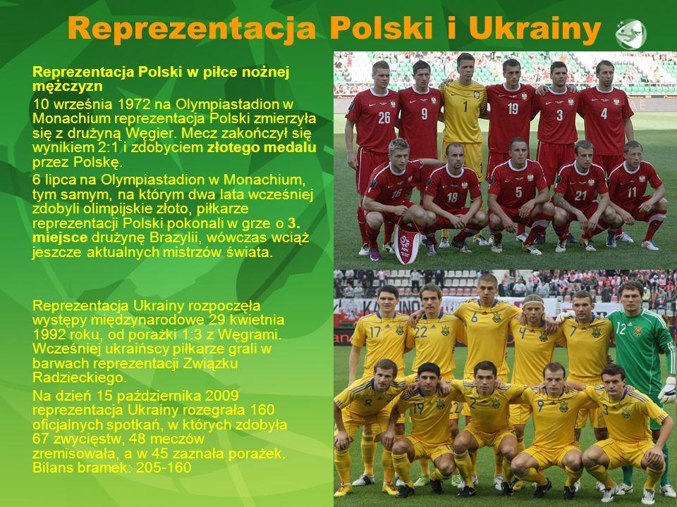 Reprezentacja Polski i Ukrainy Reprezentacja Polski w piłce nożnej mężczyzn 10 września 1972 na Olympiastadion w Monachium reprezentacja Polski zmierz