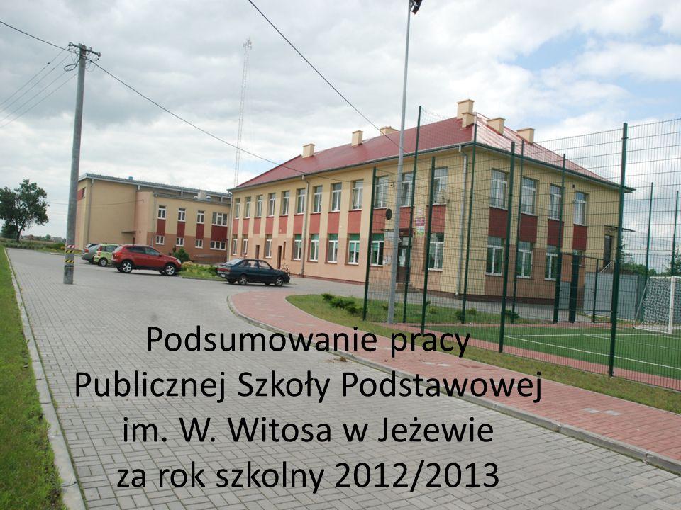 Podsumowanie pracy Publicznej Szkoły Podstawowej im. W. Witosa w Jeżewie za rok szkolny 2012/2013