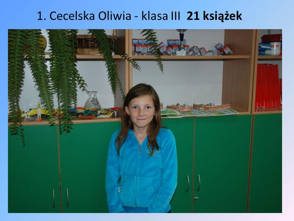 2. Mazurowski Jakub - klasa III 19 książek