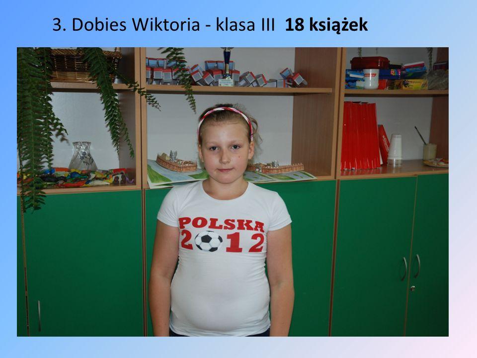 3. Dobies Wiktoria - klasa III 18 książek