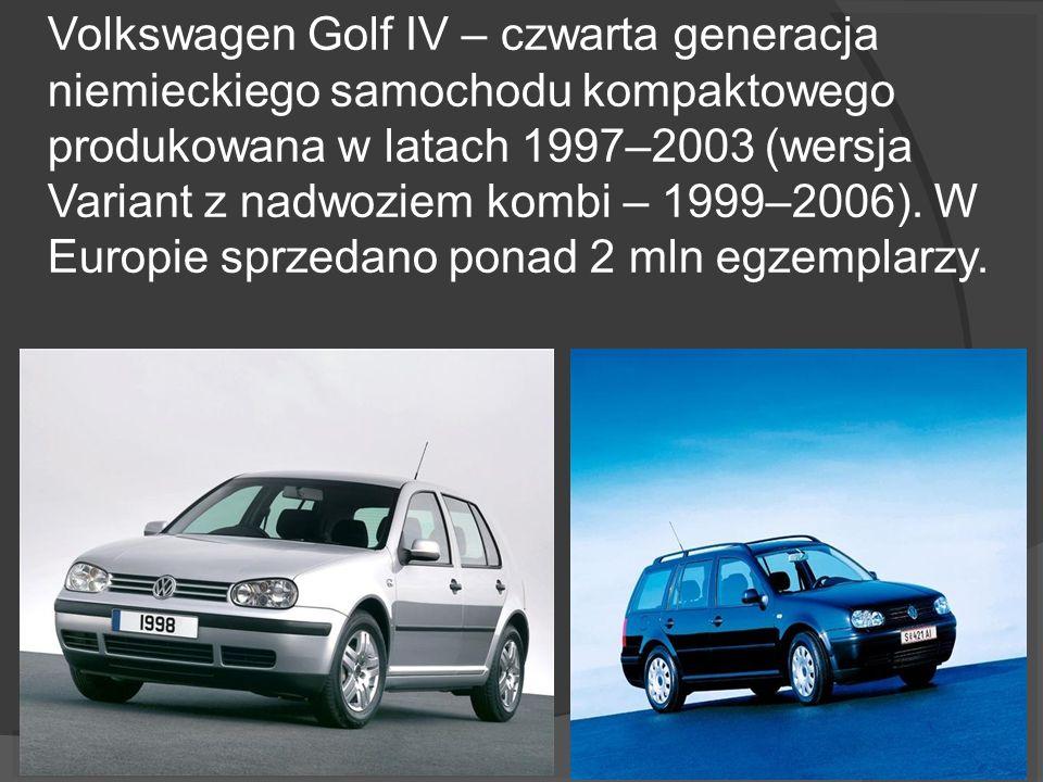 Volkswagen Golf IV – czwarta generacja niemieckiego samochodu kompaktowego produkowana w latach 1997–2003 (wersja Variant z nadwoziem kombi – 1999–200