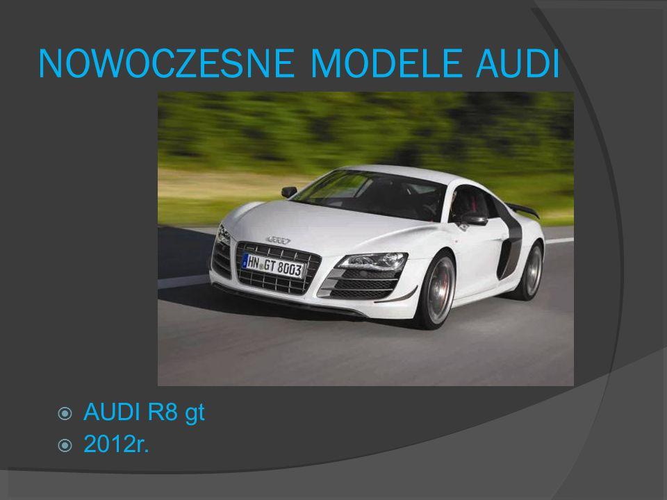 NOWOCZESNE MODELE AUDI AUDI R8 gt 2012r.