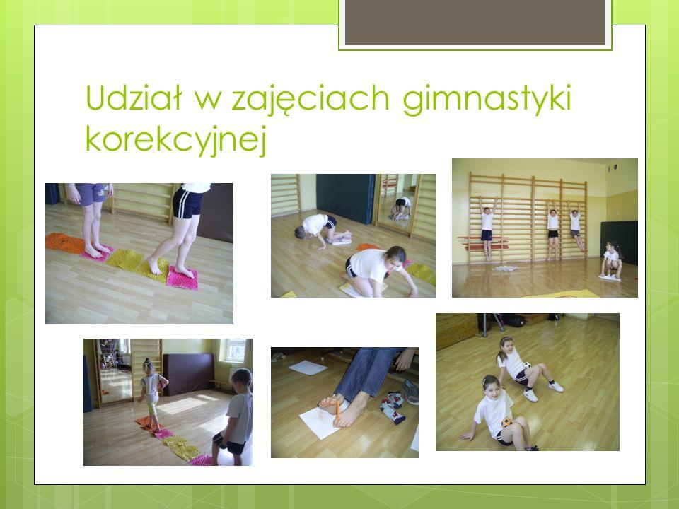 Zajęcia na gimnastyce korekcyjnej
