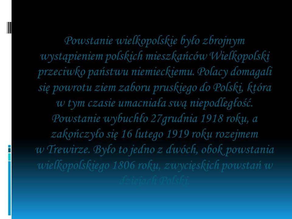 W styczniu 1918 r. Powstańcy Wielkopolscy dzielnie bronili naszego kraju.