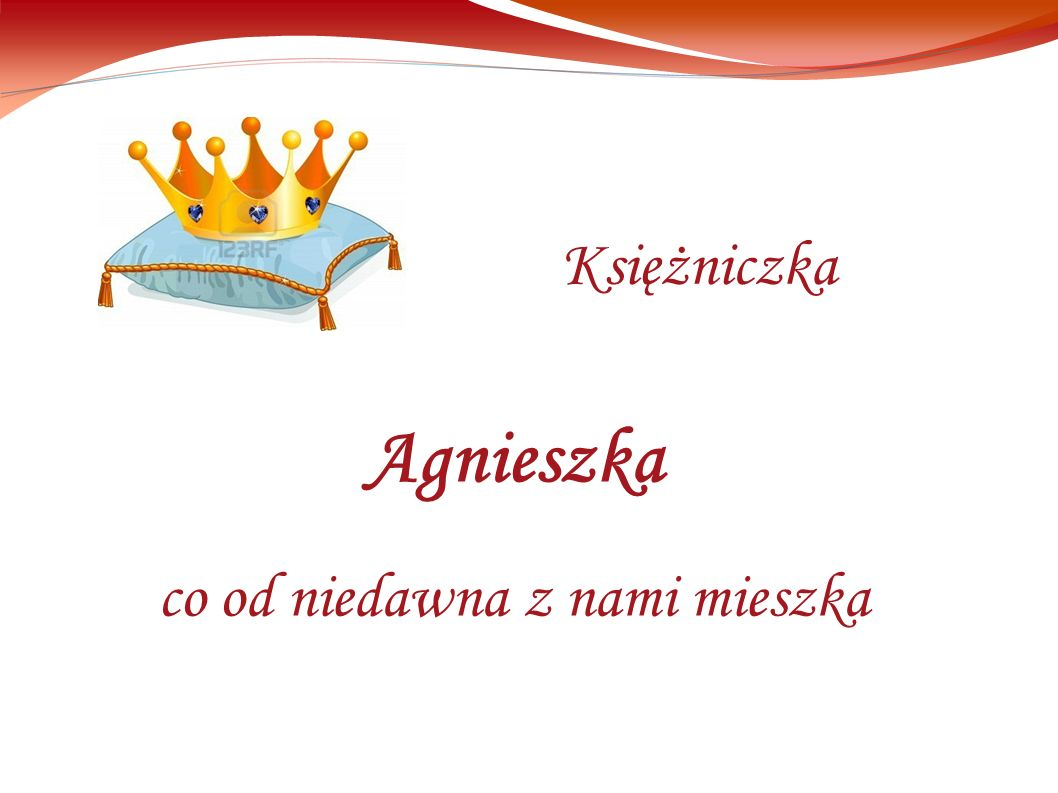 Agnieszka co od niedawna z nami mieszka Księżniczka
