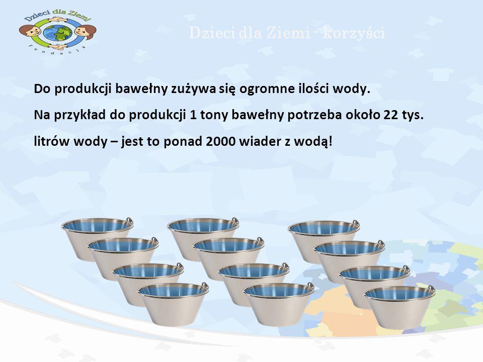 Do produkcji bawełny zużywa się ogromne ilości wody.