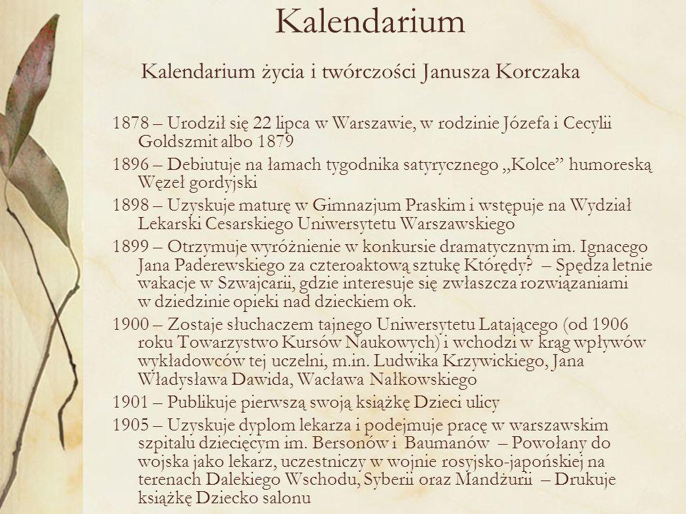 1907–1908 – Przebywa w Berlinie w celu uzupełnienia i rozwinięcia wiedzy medycznej 1910 – Półroczny pobyt studialny w Paryżu i krótki pobyt w Londynie 1909–1912 – Udział w pracach Towarzystwa Pomoc dla Sierot, uwieńczonych wybudowaniem Domu Sierot dla dzieci żydowskich przy ul.