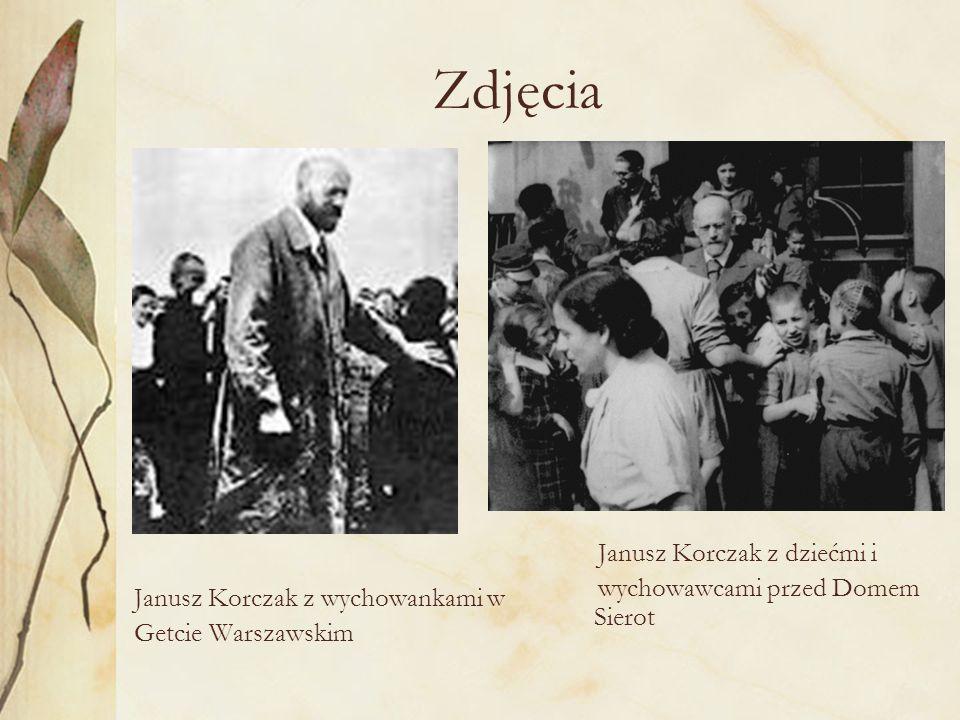 Janusz Korczak ze studentami Janusz Korczak i Stefania Wilczyńska Dom Sierot – sierociniec dla dzieci, zdjęcie z około 1935r.