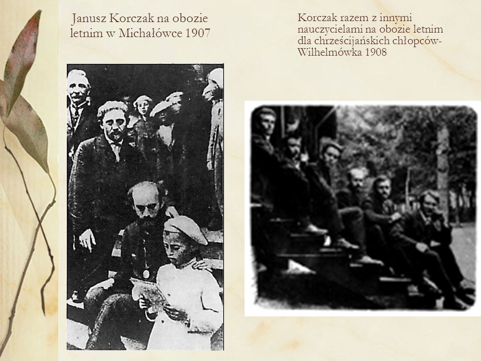 Korczak z dziećmi na obozie w Gocławku lipiec 1927r.