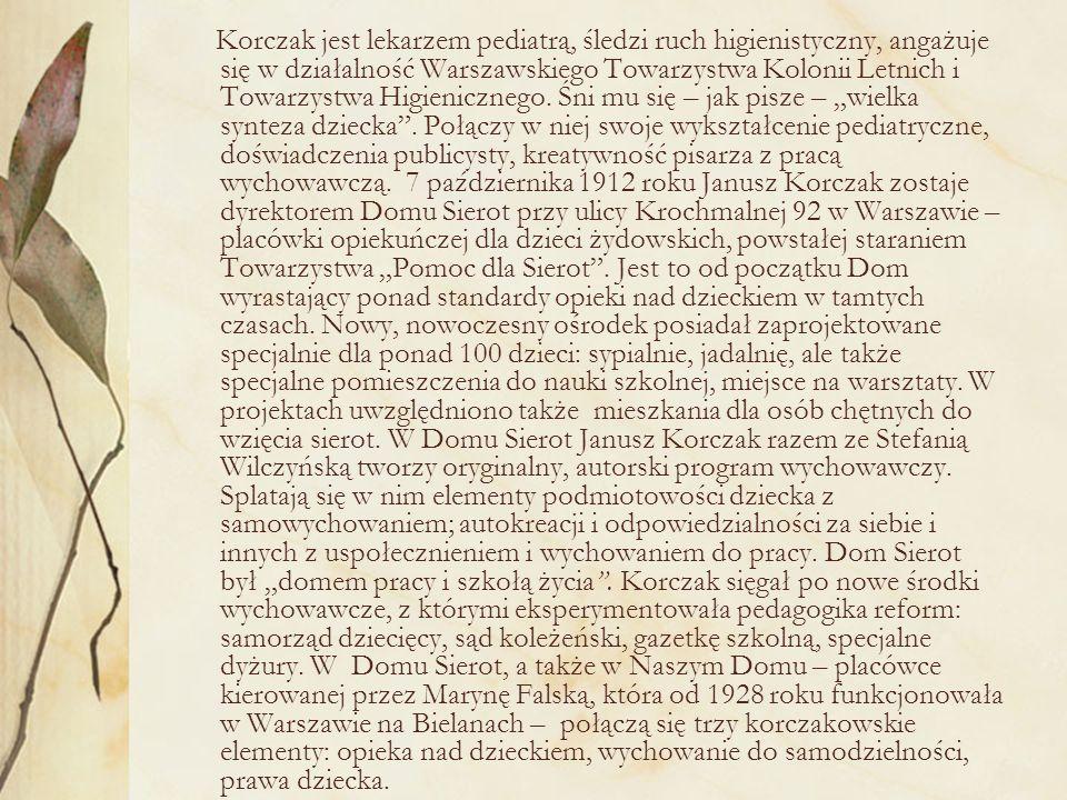 W wydanym w 1918 roku eseju Jak kochać dziecko.