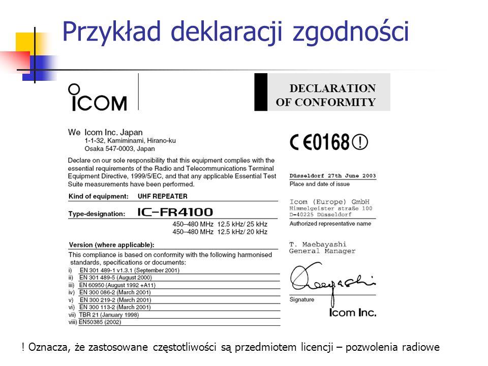 Przykład deklaracji zgodności .