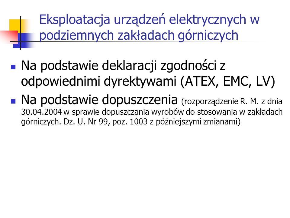 Osłona ognioszczelna (Ex d) Cechy charakterystyczne: szczeliny złącz o zdefiniowanej geometrii wytrzymałość słony na wybuch wpusty kablowe zapewniające szczelność w górnictwie jeżeli stężenie metanu przekroczy wartość dopuszczalną urządzenie należy wyłączyć (nie może pracować przy dowolnym stężeniu metanu) mogą być puste osłony ognioszczelne