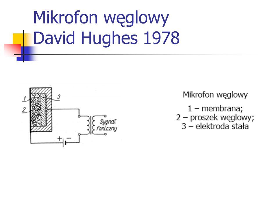 Mikrofon węglowy David Hughes 1978