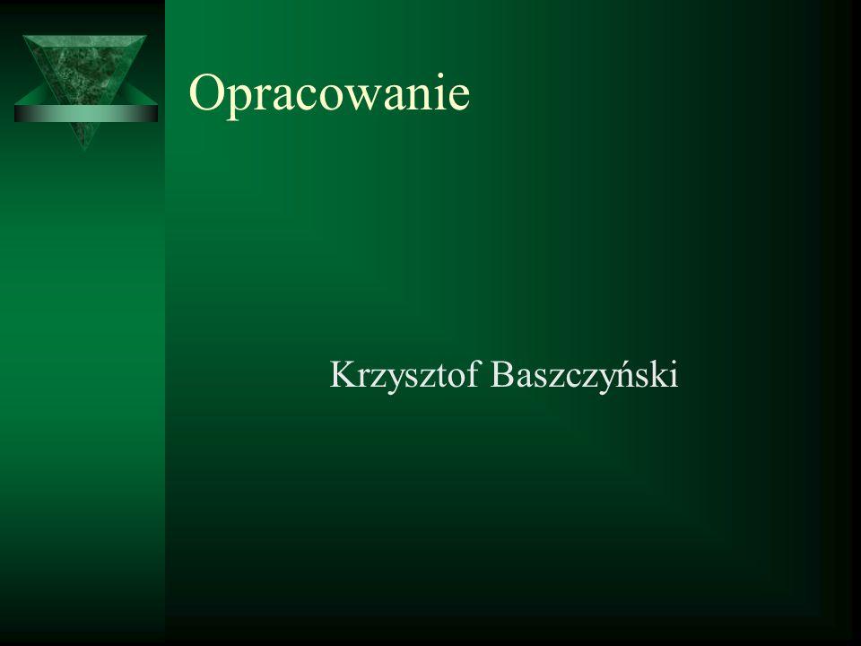 Opracowanie Krzysztof Baszczyński