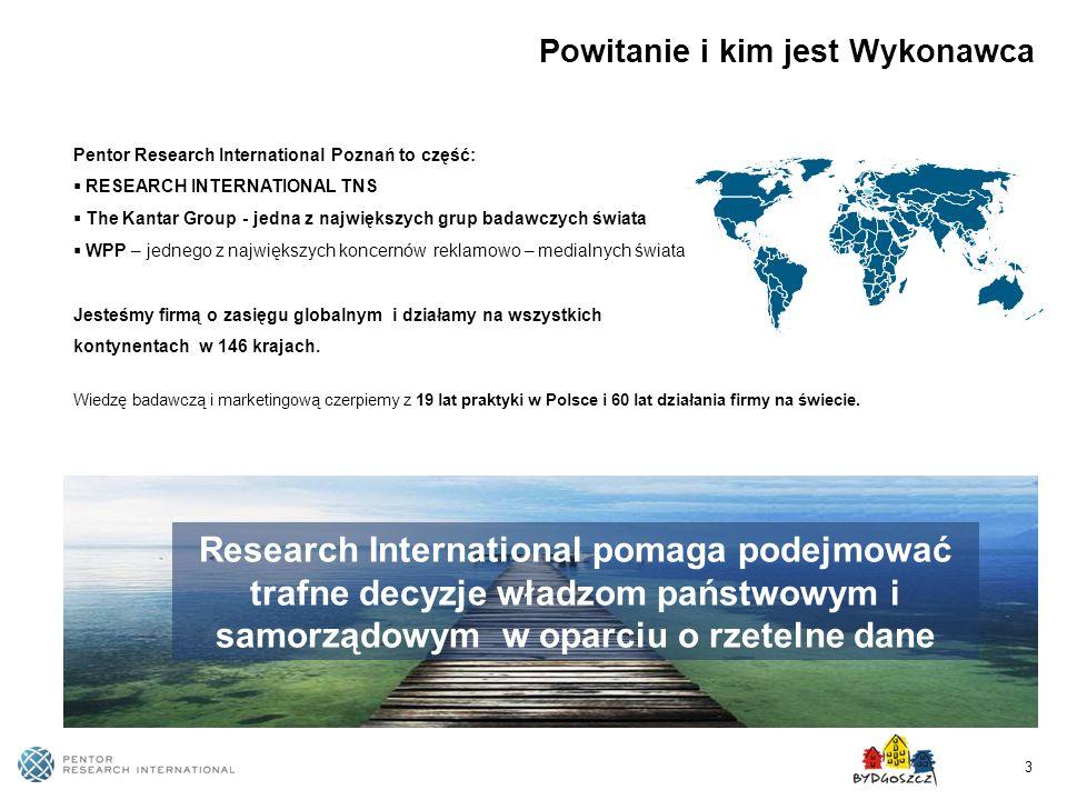 3 Powitanie i kim jest Wykonawca Pentor Research International Poznań to część: RESEARCH INTERNATIONAL TNS The Kantar Group - jedna z największych gru