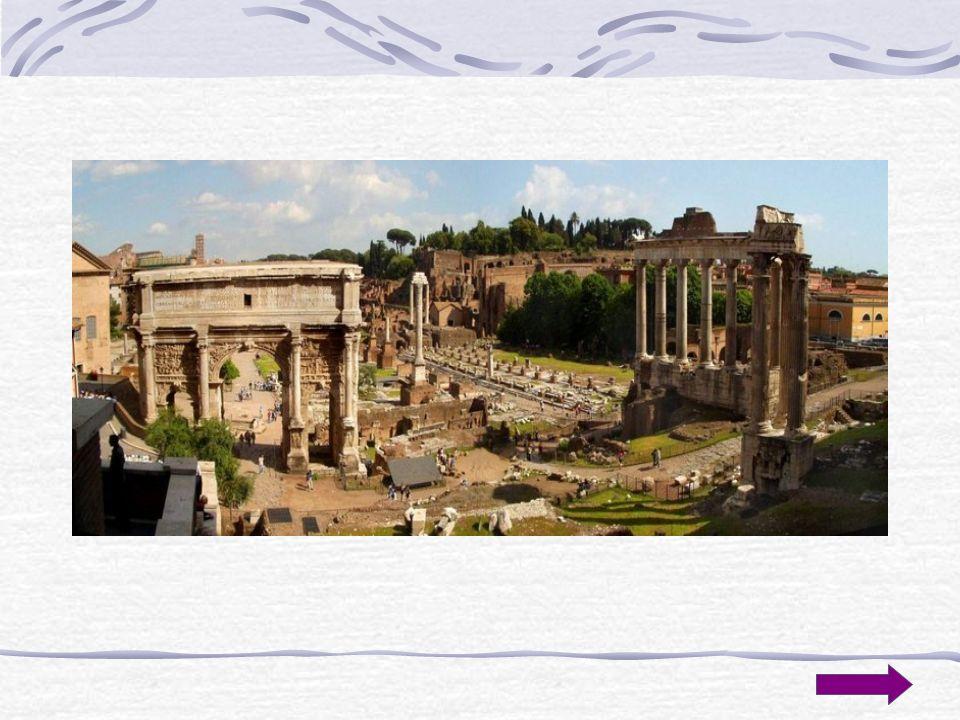 Forum Romanum Dolina położona między wzgórzami: Kapitolem, Palatynem, Kwirynałem, Eskwilinem, Wiminałem była centrum Rzymu, zarówno miasta, jak i Impe