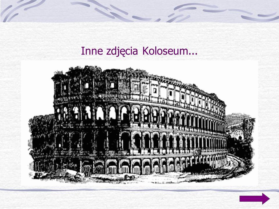 Amfiteatr Flawiusza - Koloseum Koloseum jest jedną z największych świetności epoki rzymskiej. Budowa tego amfiteatru o olbrzymich wymiarach, którego p