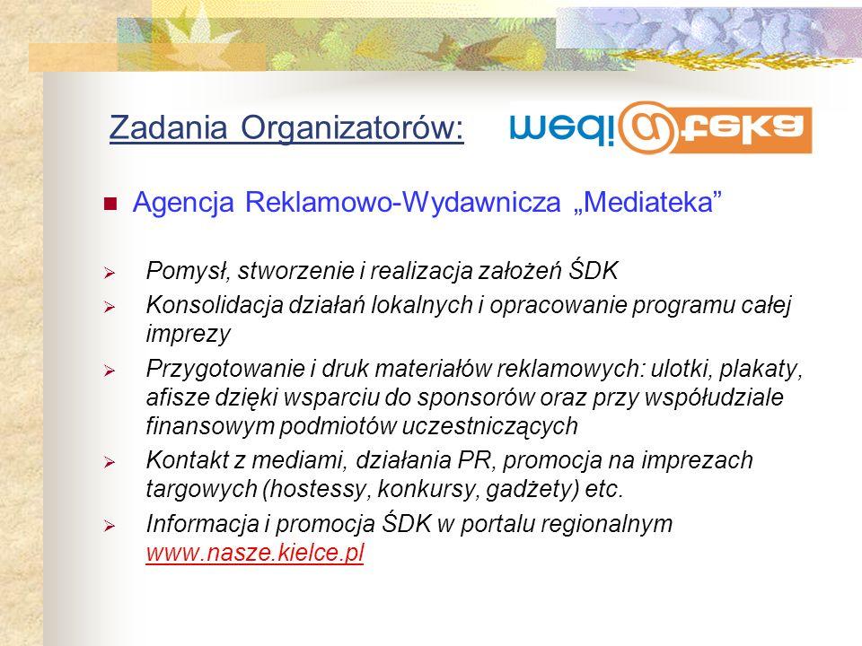 Zadania Organizatorów: Przygotowanie i sfinansowanie wydania w czerwcu numeru specjalnego czasopisma poświęconego ŚDK, w nakładzie 2000 szt., dostępne