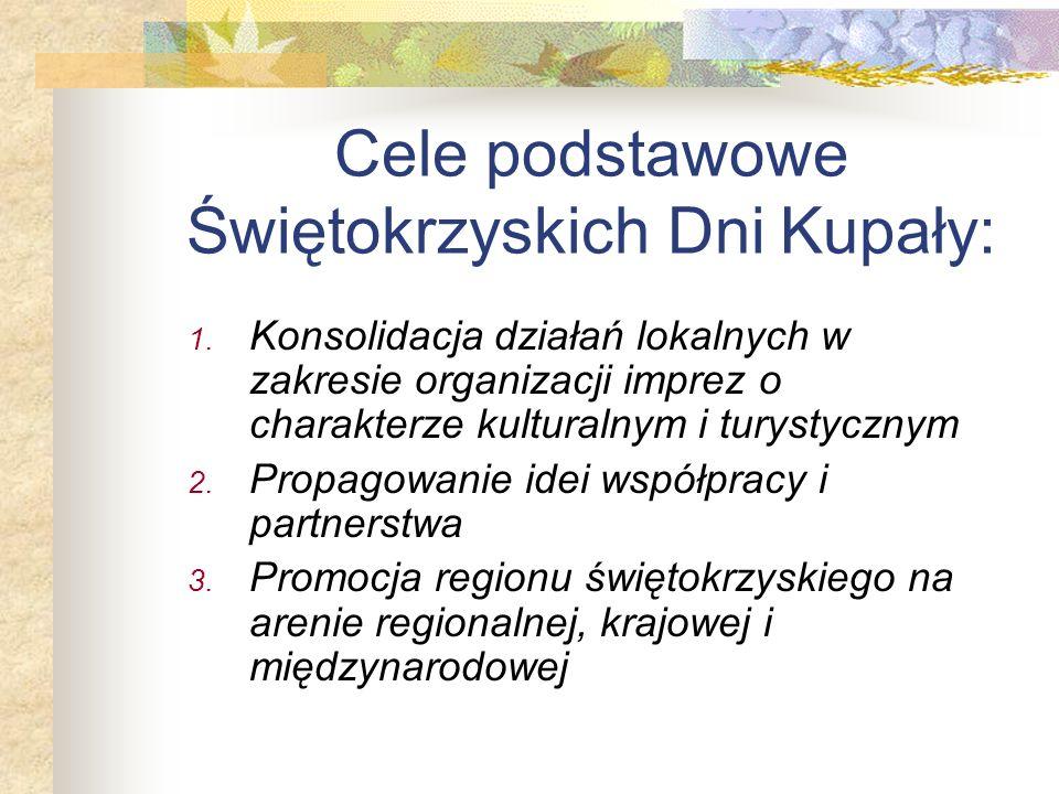 Stworzenie markowego produktu turystycznego Województwa Świętokrzyskiego Główny cel Świętokrzyskich Dni Kupały:
