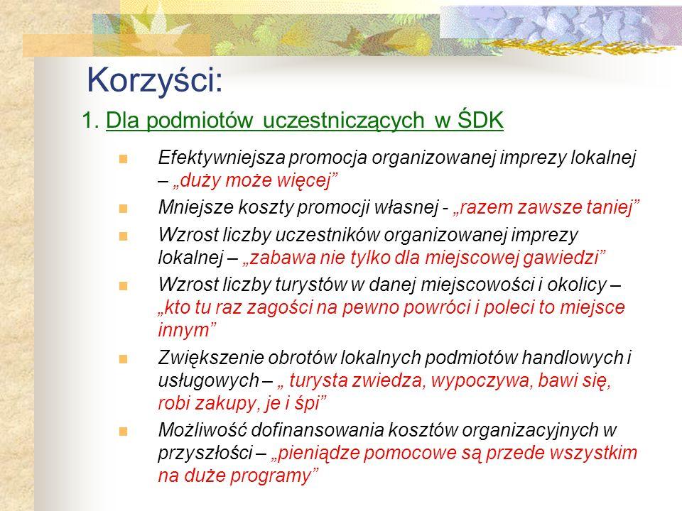 Ad 3. Promocja regionu świętokrzyskiego na arenie regionalnej, krajowej i międzynarodowej Kumulacja atrakcji regionalnych w ramach jednej dużej imprez
