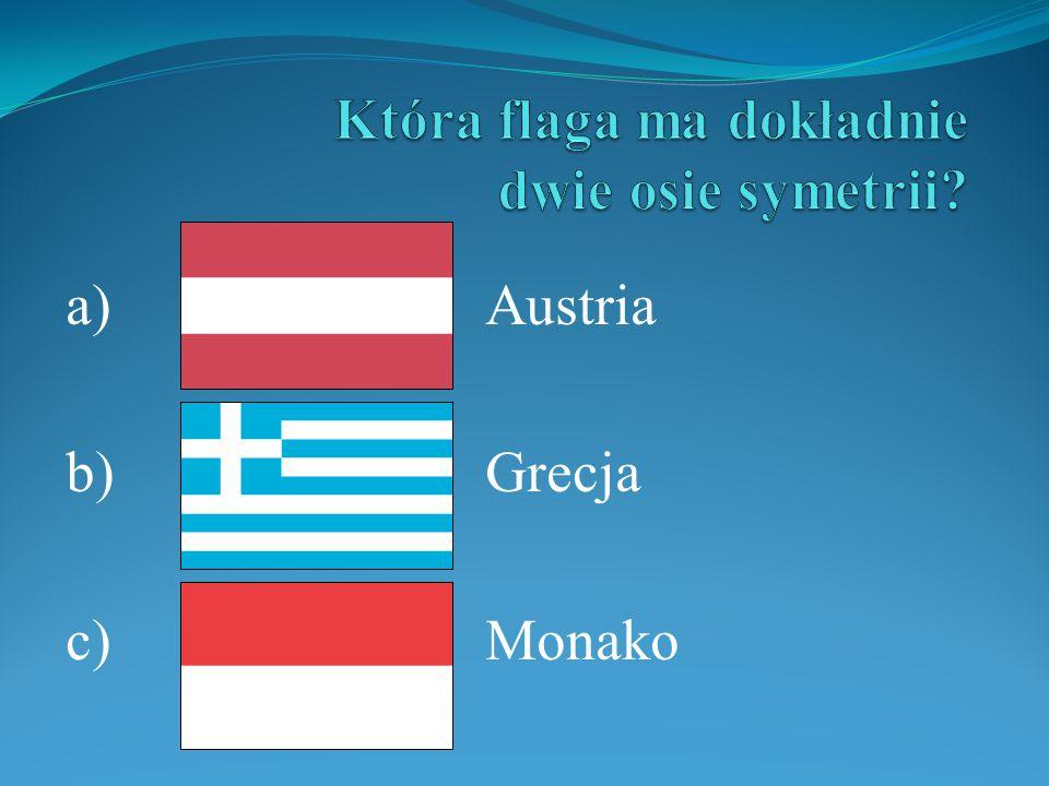 a)Austria b)Grecja c)Monako