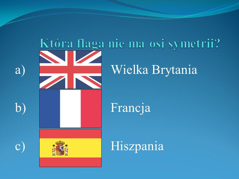 a)Wielka Brytania b)Francja c)Hiszpania