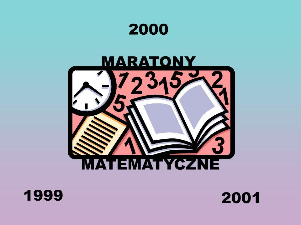 MARATONY MATEMATYCZNE 1999 2000 2001