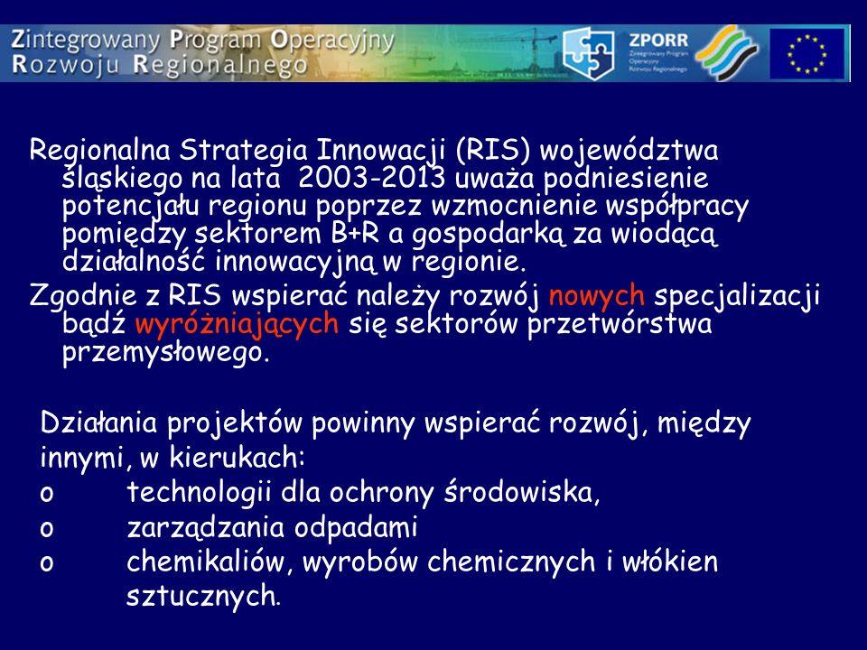 Regionalna Strategia Innowacji (RIS) województwa śląskiego na lata 2003-2013 uważa podniesienie potencjału regionu poprzez wzmocnienie współpracy pomi