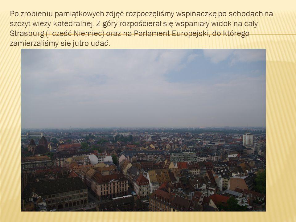 Nazajutrz wcześnie rano zwiedziliśmy budynek Rady Europy – instytucji często mylonej z innymi instytucjami Unii Europejskiej.