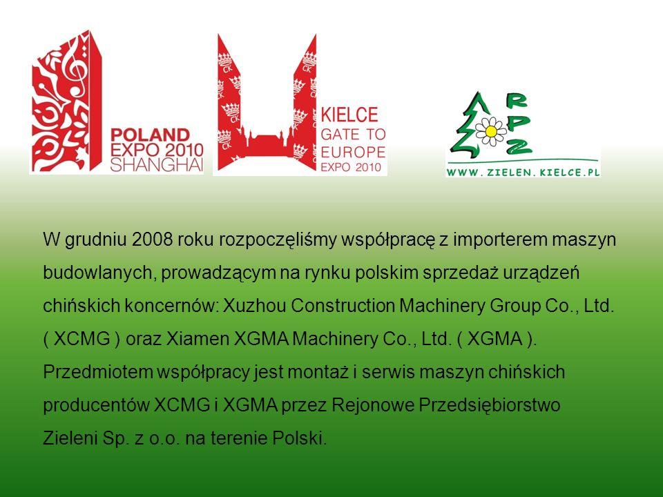 W grudniu 2008 roku rozpoczęliśmy współpracę z importerem maszyn budowlanych, prowadzącym na rynku polskim sprzedaż urządzeń chińskich koncernów: Xuzh