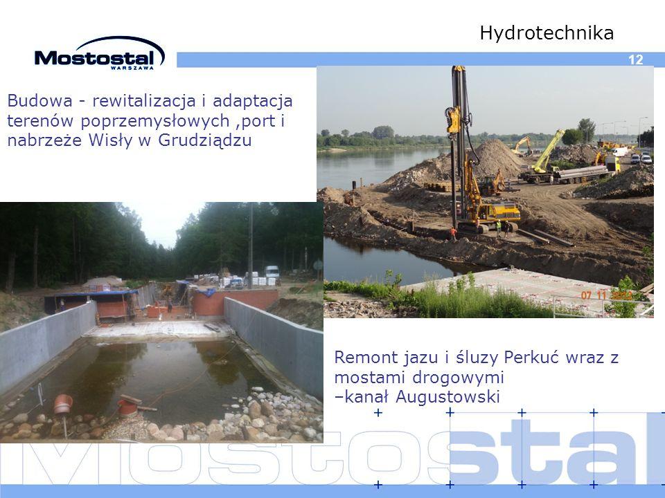 12 Hydrotechnika Remont jazu i śluzy Perkuć wraz z mostami drogowymi –kanał Augustowski Budowa - rewitalizacja i adaptacja terenów poprzemysłowych,por