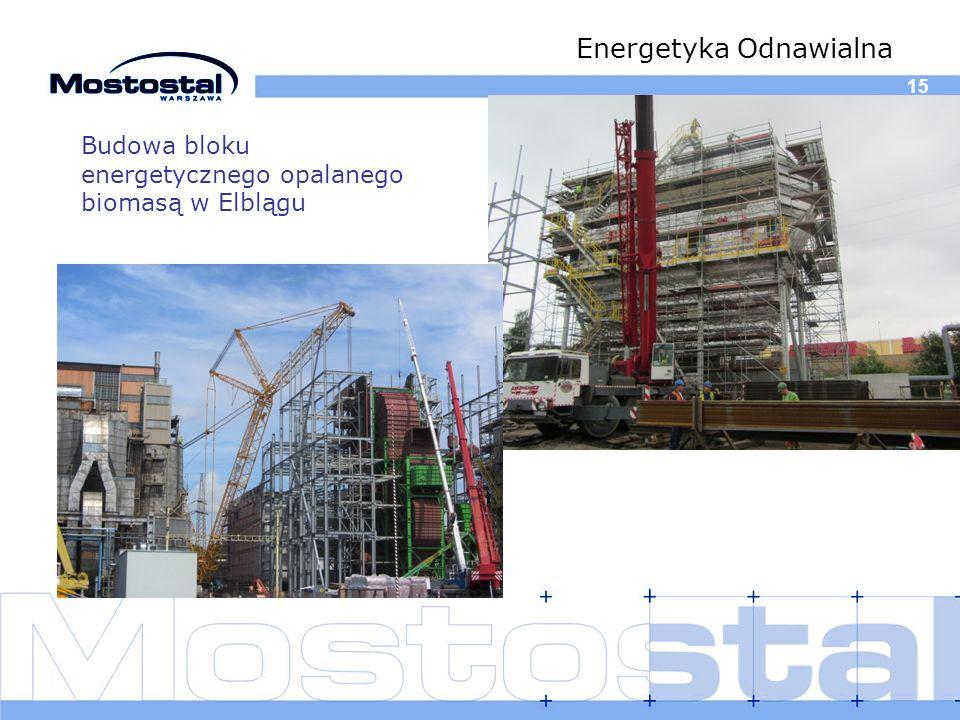 15 Energetyka Odnawialna Budowa bloku energetycznego opalanego biomasą w Elblągu